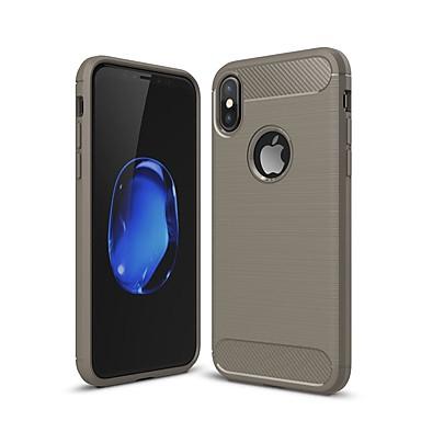 voordelige iPhone 7 hoesjes-hoesje Voor Apple iPhone XS / iPhone XR / iPhone XS Max Schokbestendig / Ultradun Achterkant Effen Hiilikuitu