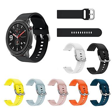 voordelige Horlogebandjes voor Samsung-sport siliconen horlogeband polsband voor xiaomi huami amazfit gtr 42mm / amazfit bip jeugd / samsung galaxy horloge actief smart horloge armband polsband vervangbare accessoires