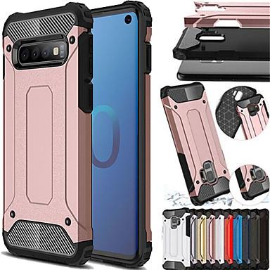 voordelige Galaxy S-serie hoesjes / covers-schokbestendig robuust hybride pantsertelefoonhoesje voor Samsung Galaxy S10 S10 Plus S10E S9 S9 Plus S8 S8 Plus S7 S7 Edge