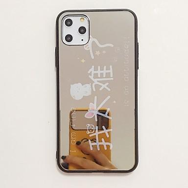 voordelige iPhone-hoesjes-hoesje Voor Apple iPhone 11 / iPhone 11 Pro / iPhone 11 Pro Max Schokbestendig / Spiegel / Ultradun Achterkant Woord / tekst TPU