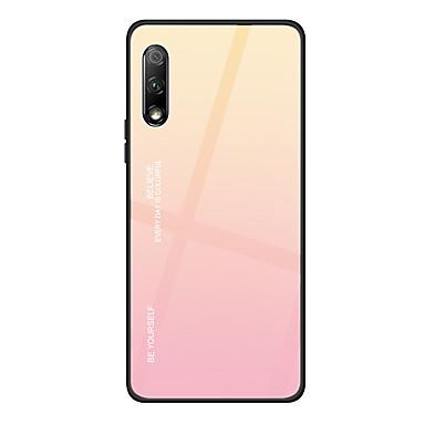 voordelige Huawei Mate hoesjes / covers-hoesje Voor Huawei Huawei Nova 4 / Huawei P20 / Huawei P20 Pro Ultradun Achterkant Kleurgradatie Gehard glas