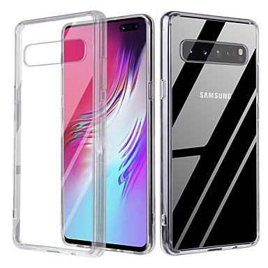 voordelige Galaxy S-serie hoesjes / covers-kristal transparant glazen behuizing voor Galaxy S10 / S10 Plus TPU dubbele helderglazen beschermkap voor Galaxy S9 / S9 Plus