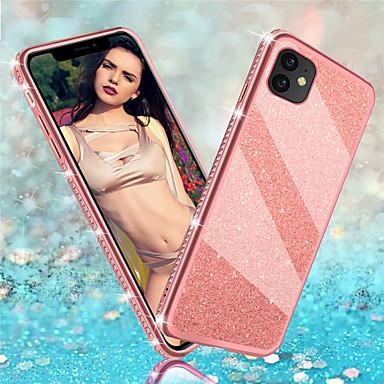voordelige iPhone-hoesjes-luxe glitter diamant tpu cover telefoonhoesje voor iPhone 11 pro max xr xs max x 8 plus 7 plus 6 plus hoesje zachte siliconen bumper