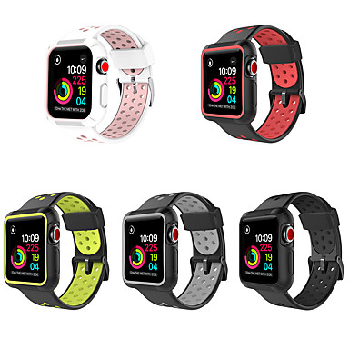 voordelige Smartwatch-accessoires-pc-hoes met siliconenband voor Apple Watch-serie 5/4/3/2/1