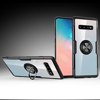 voordelige Galaxy S-serie hoesjes / covers-hoesje Voor Samsung Galaxy S9 / S9 Plus / Galaxy S10 Plus Schokbestendig / Ringhouder Achterkant Schild PC