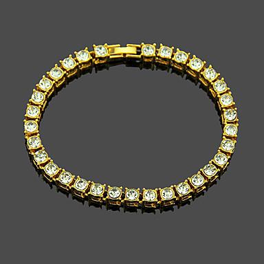 voordelige Heren Armband-Heren Tennis Armbanden Tennis ketting Verticaal Punk Legering Armband sieraden Zwart / Goud / Zilver Voor Dagelijks