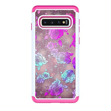 voordelige Galaxy S-serie hoesjes / covers-hoesje Voor Samsung Galaxy S9 / S9 Plus / S8 Plus Schokbestendig / Patroon Achterkant Bloem PU-nahka