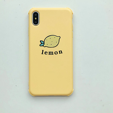 voordelige iPhone-hoesjes-hoesje Voor Apple iPhone XS / iPhone XR / iPhone XS Max Ultradun / Patroon Achterkant Voedsel / Cartoon TPU