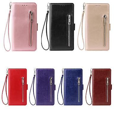 voordelige Galaxy Note 5 Hoesjes / covers-hoesje Voor Samsung Galaxy Note 9 / Note 8 / Note 5 Kaarthouder Volledig hoesje Effen PU-nahka