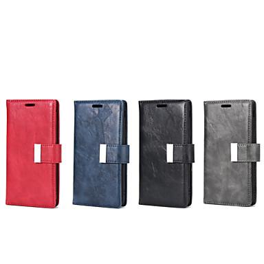 voordelige Galaxy J-serie hoesjes / covers-hoesje Voor Samsung Galaxy J7 / J5 (2017) / J5 Portemonnee / Kaarthouder / met standaard Volledig hoesje Effen PU-nahka / TPU