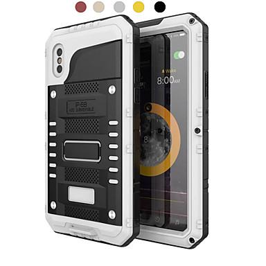 voordelige iPhone 6 Plus hoesjes-hoesje Voor Apple iPhone XS / iPhone XR / iPhone XS Max Water / Dirt / Shock Proof Volledig hoesje Schild Hard Metaal