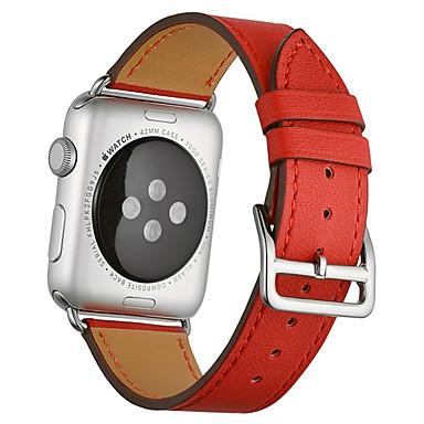 voordelige Smartwatch-accessoires-Horlogeband voor Apple Watch Series 5 / Apple Watch Series 4 / Apple Watch Series 3 Apple Leren lus Gewatteerd PU-leer Polsband