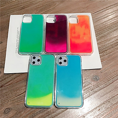 voordelige iPhone 6 hoesjes-hoesje Voor Apple iPhone 11 / iPhone 11 Pro / iPhone 11 Pro Max Glow in the dark / Stromende vloeistof / Glitterglans Achterkant Effen TPU