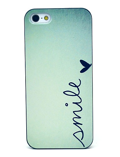 cheap iPhone Cases-Case For iPhone 5 / Apple iPhone 5 Case Pattern Back Cover Word / Phrase Hard PC for iPhone SE / 5s / iPhone 5