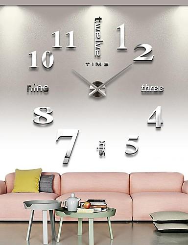 Χαμηλού Κόστους Διακόσμηση Σπιτιού-frameless μεγάλα DIY ρολόι τοίχου, μοντέρνο ρολόι τρισδιάστατο τοίχο με αυτοκόλλητα αριθμούς καθρέφτη για το δώρο διακοσμήσεις γραφείου στο σπίτι