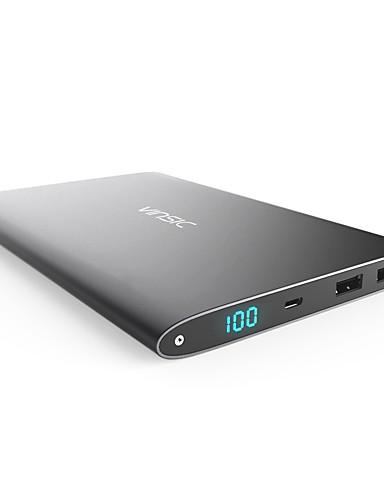 저렴한 보조배터리-Vinsic 20000 mAh 제품 전원 은행 외부 배터리 5V 제품 2.4 A / # 제품 배터리 충전기 멀티 출력 / 자동 조절 전류 LCD