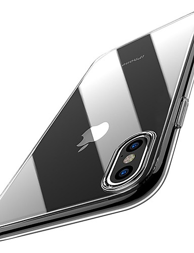 cheap iPhone Cases-Case For Apple iPhone XR / iPhone XS Max Ultra-thin / Transparent Back Cover Solid Colored Soft TPU for iPhone XS / iPhone XR / iPhone XS Max