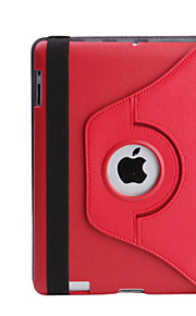 עור PU מקרה מגן rotable והמעובה ומעמד עבור iPad 2/3/4 (צבעים שונים)