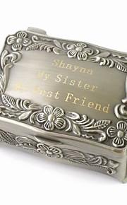 Smykkeskrin Æske Sølv Zinklegering Zink Legering Personaliseret Glamour Vintage Gør Det Selv Bryllup Jubilæum Gave Valentine
