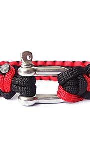 Steel Button Double Color Life-saving Bracelet