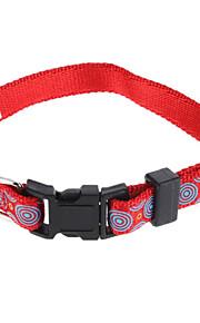 Katze Hund Halsbänder Regolabile / Einziehbar Nylon Rot Grün