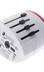 Wereldreisadapter met 2 USB-oplader van hoge kwaliteit, duurzaam