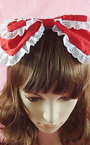Κοσμήματα Γλυκιά Λολίτα Καλύμματα Κεφαλής Γυναικεία Κόκκινο   Μπλε   Ροζ  Αξεσουάρ Lolita Μονόχρωμο Φιόγκος Τεμάχια cfb367e6a3a