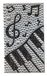 Noble Piano Mönster Smycken skyddskropp klistermärke för Mobil