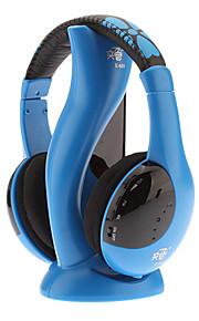 Hi-Fiステレオワイヤレス快適なヘッドフォンブルー