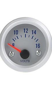 Voltage Meter Gauge Voltmeter for Auto Car 2 52mm 8-16V Orange Light
