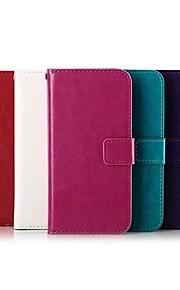 Funda Para HTC Funda HTC Soporte de Coche Cartera con Soporte Flip Cuerpo Entero Color sólido Dura Cuero Sintético para