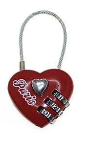 3-Digit Combination Password Heart Lock (Code: 000)