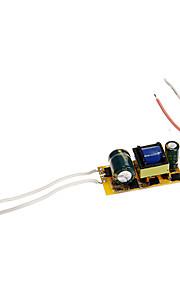 0.3A 4-7w dc 12-22v til intern konstant strøm strømforsyning strømforsyning ac 85-265V for LED bøttelys