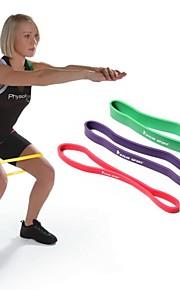 kylin esporte ™ roxo 100% exercício da aptidão ciclo faixa da resistência látex natural pilates yoga tubulação do exercício RYG