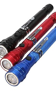 LED Flashlights / Torch LED 300 lm 1 Mode - Zoomable Nonslip grip Everyday Use Traveling Working Multifunction Black Red Blue