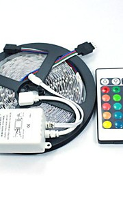 5m Flexible LED Light Strips / Light Sets / RGB Strip Lights 300 LEDs 5050 SMD RGB Remote Control / RC / Cuttable / Dimmable 12 V / Linkable / Self-adhesive / Color-Changing / IP44