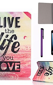 viu model de viață mare pu caz piele cu ecran protector și stylus pentru iPad mini 1/2/3