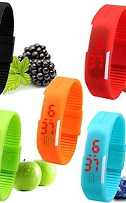 Mulheres Relógio de Pulso Bracele Relógio Relógio Casual Relogio digital Relógio Esportivo Digital LED Silicone Banda Doce Preta Branco