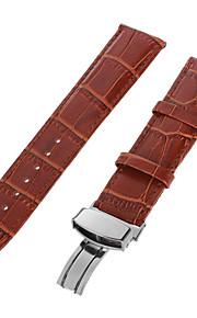 couro legítimo Pulseiras de Relógio Alça Preta 213 2cm / 0.8 Polegadas