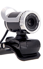 USB 2.0 12 m leva cámara web HD 360 grados con clip de micrófono para Skype PC de escritorio ordenador portátil