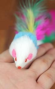 Дразнилки Игрушка с перьями Мышь текстильный Назначение Игрушка для котов