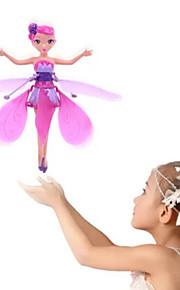 Helicóptero com CR Hovering Angel 2ch Flutuar Controle Remoto Controlo Remoto Luz do arco-íris Flying Fairy Princess Acima da sua mão