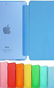 Maska Pentru iPad Mini 3/2/1 Cu Stand Auto Sleep / Wake Origami Carcasă Telefon Culoare solidă PU piele pentru iPad Mini 3/2/1