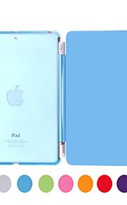 Maska Pentru iPad Mini 3/2/1 Culori Solide origami Case folio Case Culoare solidă PU piele pentru