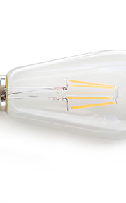 E26/E27 LED лампы накаливания 4 COB 360 lm Тёплый белый К Декоративная AC 85-265 V