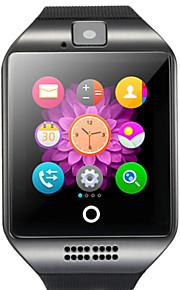 Q18 Мужчины Смарт Часы Android Bluetooth USB Сенсорный экран Израсходовано калорий Хендс-фри звонки Фотоаппарат Регистрация дистанции / Таймер / Напоминание о звонке / Датчик для отслеживания сна