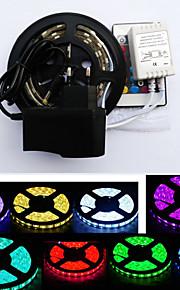 RGB-lysstriper 300 LED RGB Fjernkontroll Kuttbar Vanntett Fargeskiftende Selvklebende Passer for kjøretøy Koblingsbar DC 12V DC 12 V