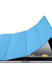 Case Kompatibilitás iPad 4/3/2 Egyszínű Folio Case Automatikus alvó állapot/felébredés Különleges dizájn PU bőr mert
