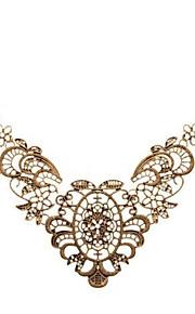 Dame Halskædevedhæng - Afslappet Mode Blomst Antik Bronze Halskæder Til Skolebal Bar