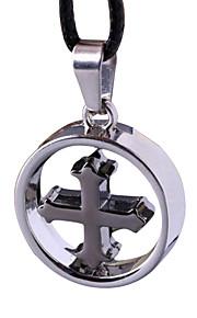 punk med kors halskæde, mænd kraveben kæde -det cross sløjfer